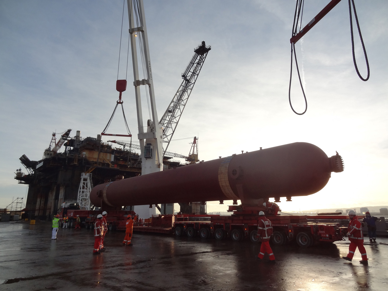 Pipeline Equipment Shipped to Able Seaton Port