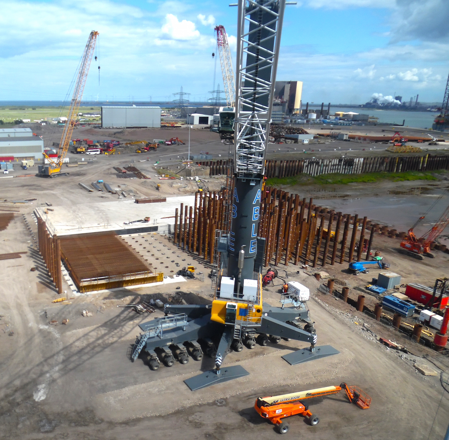 Construction of Quay 6 at Able Seaton Port