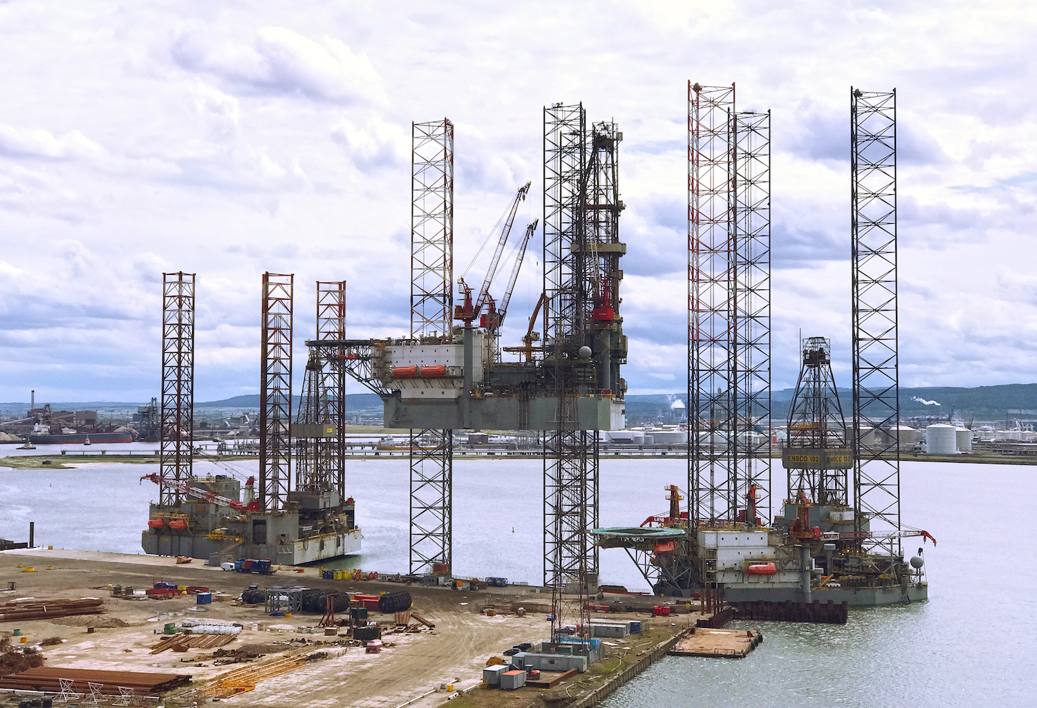 Ensco Jack-Up Rigs at ASP - 3rd July 2017
