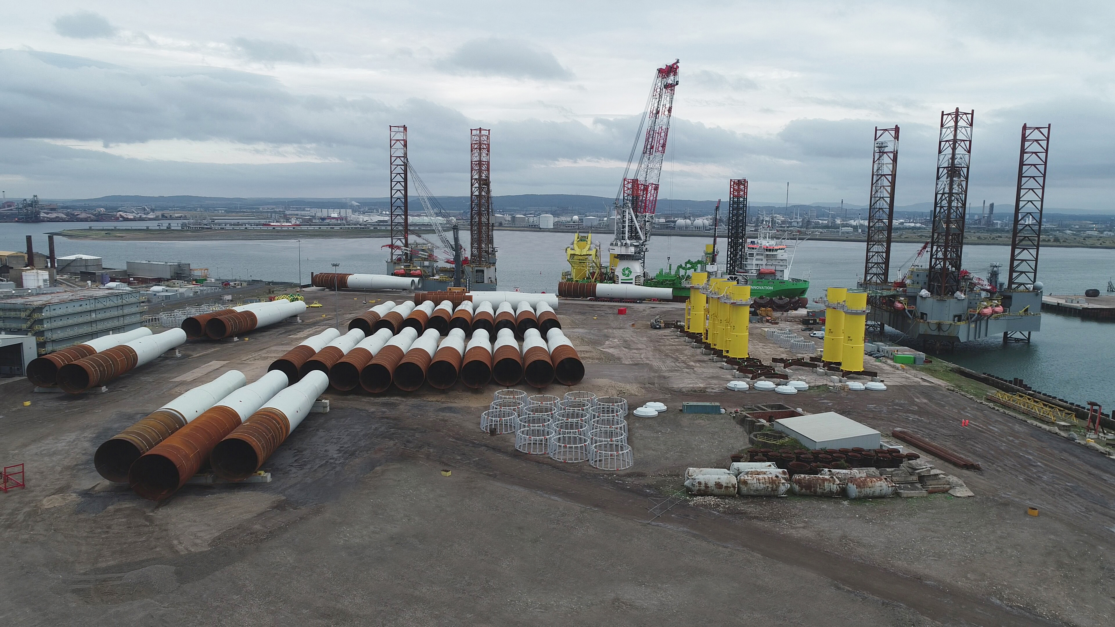 Able Seaton Port - Hornsea Offshore Wind Farm Feeder Port - 18th August 2018