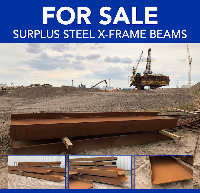FOR SALE – SURPLUS STEEL X-FRAME BEAMS | Able UK