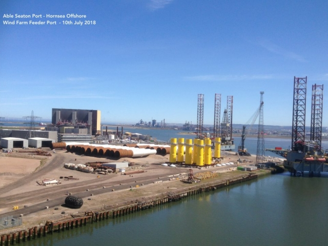 Able Seaton Port - Hornsea Offshore Wind Farm Feeder Port - 10th July 2018