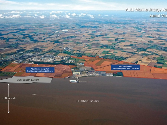 Able Marine Energy Park Aerial View Showing Able Logistics Park