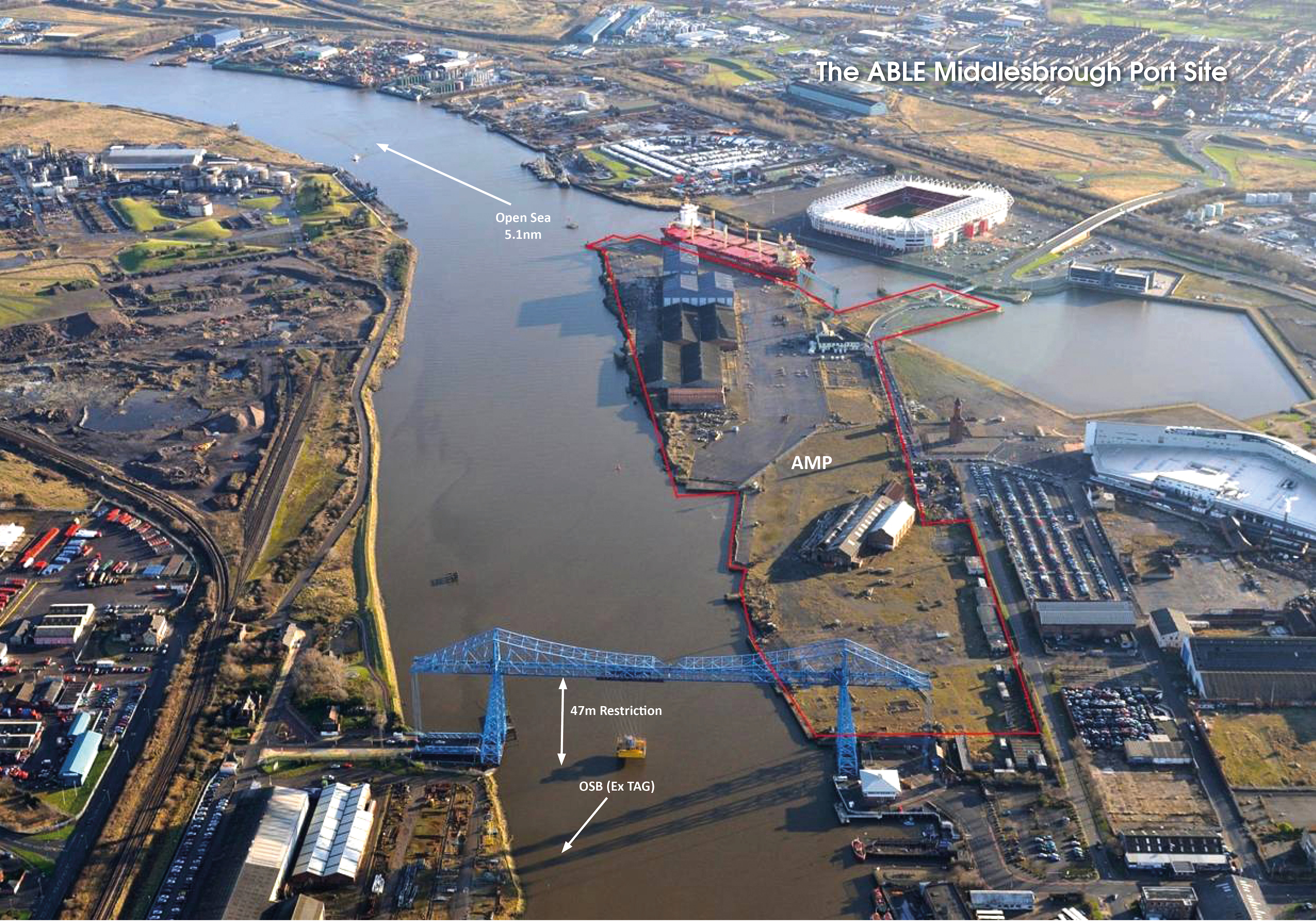 The Able Middlesbrough Port Site Aerial