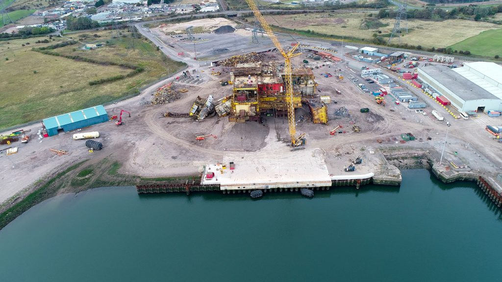 Decommissioning for the Brent Delta platform currently underway at Able Seaton Port